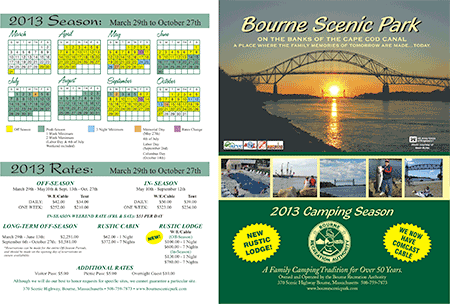 brochure for Cape Cod Canal Scenic Park