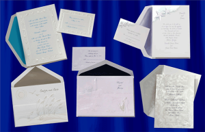 image of wedding invitations and envelopes by Canalside Printing, Cape Cod MA